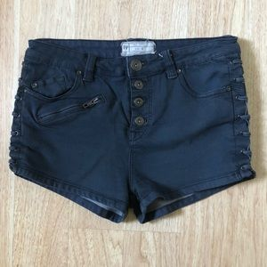 Free people High Rise button fly lace up shorts